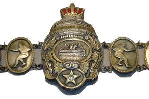 the original belt held by Rikidozan